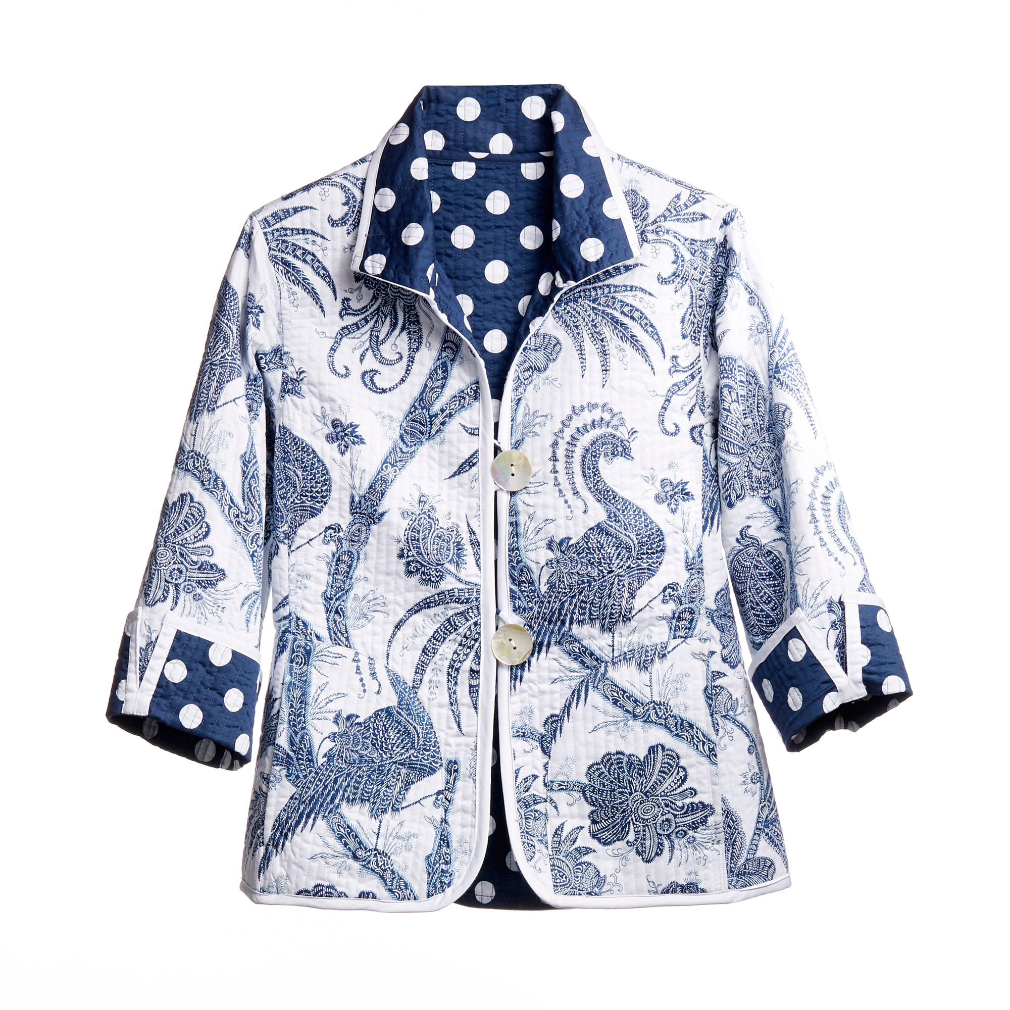 Reversible Balinese Peacock Jacket