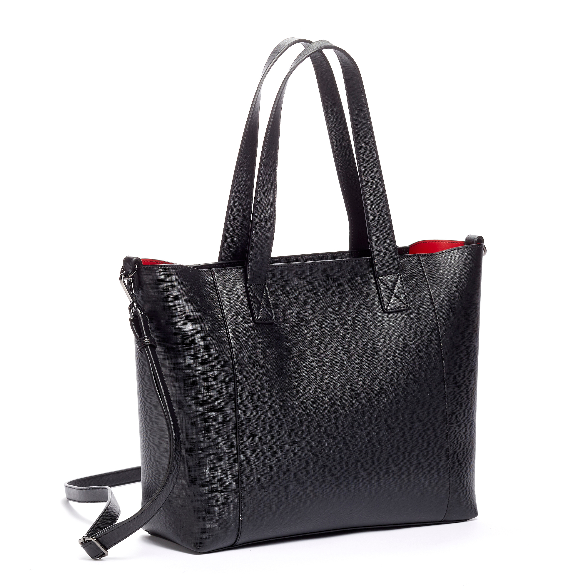 Textured Leatherette Tote