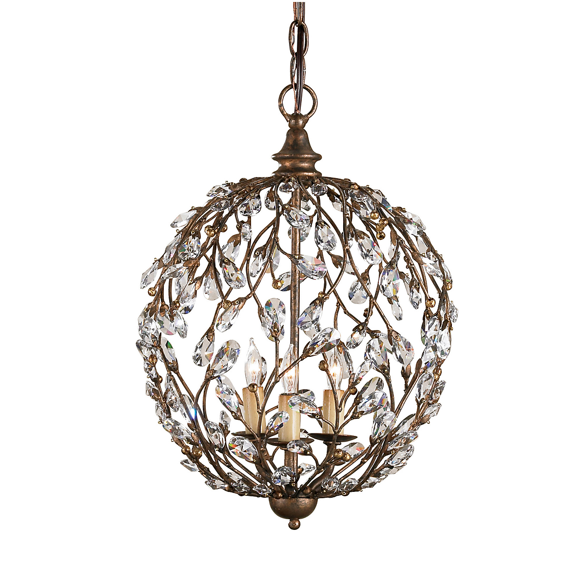 Currey & Company Crystal Bud Sphere Chandelier