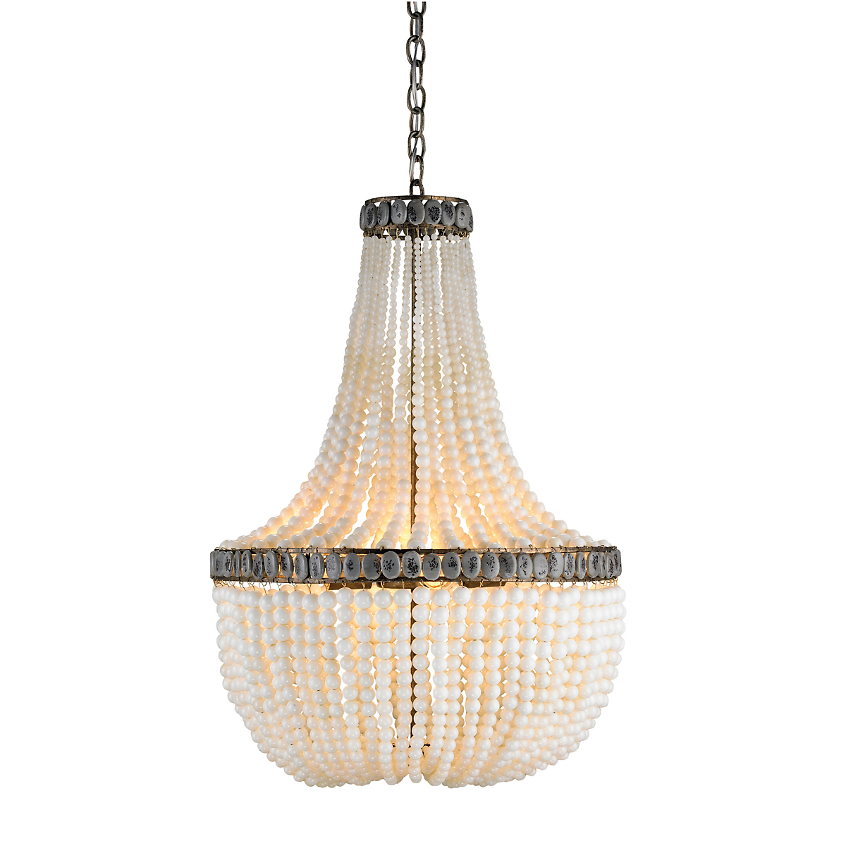 Currey & Company Hedy Chandelier, White