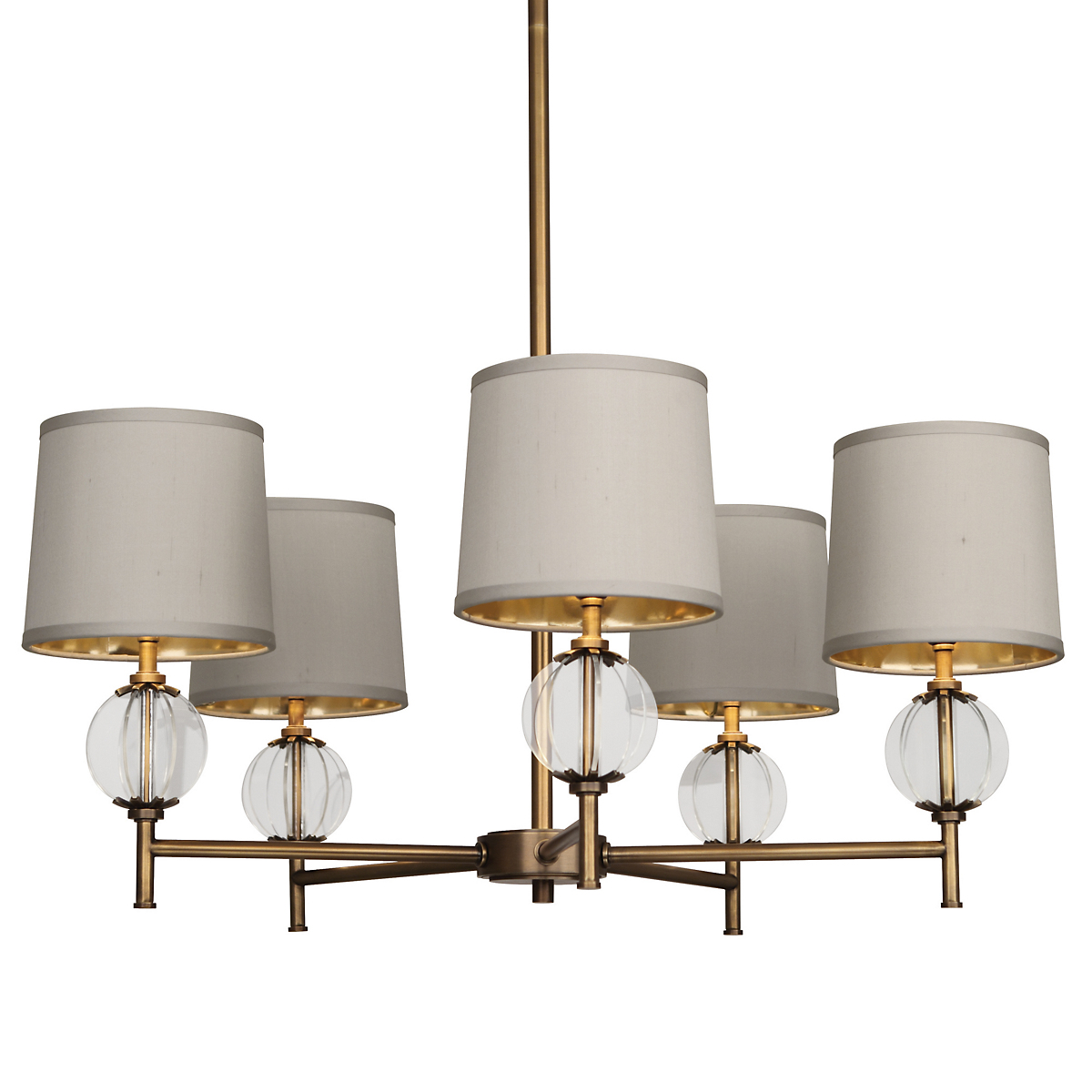 Latitude Chandelier, Brass