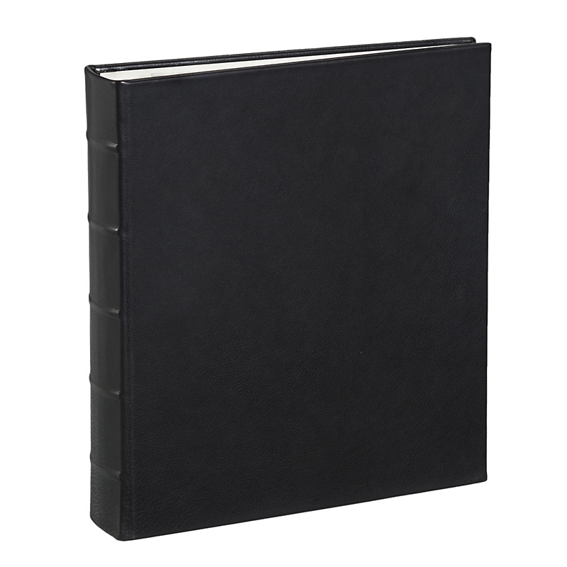 Graphic Image Traditional Leather Album, Large Black