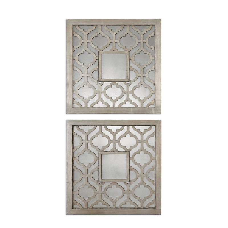 Sorbolo Square Mirrors, Set of 2