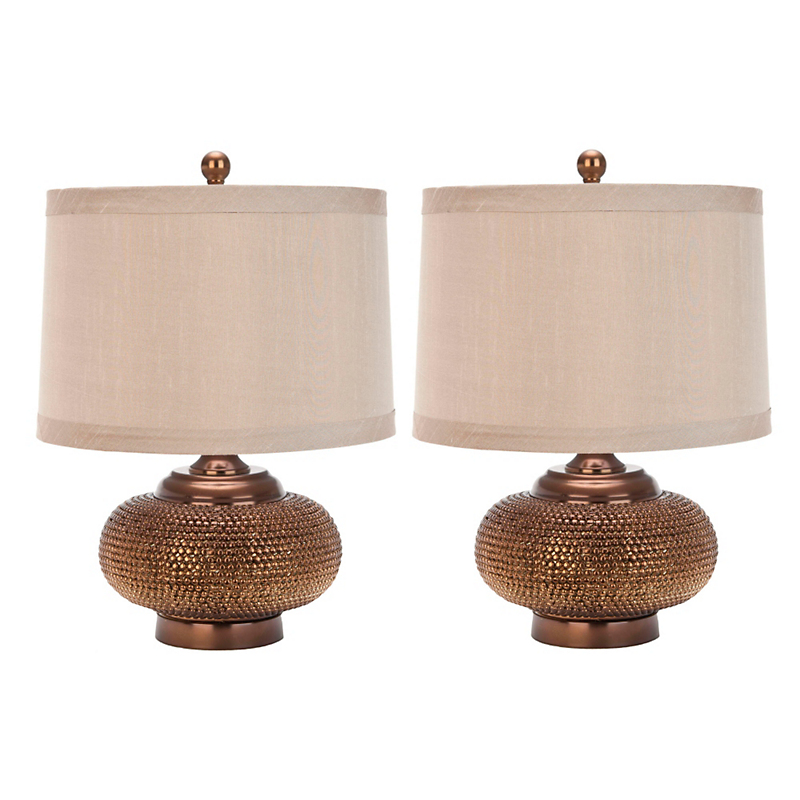 Alexis Gold Bead Lamp, Set of 2
