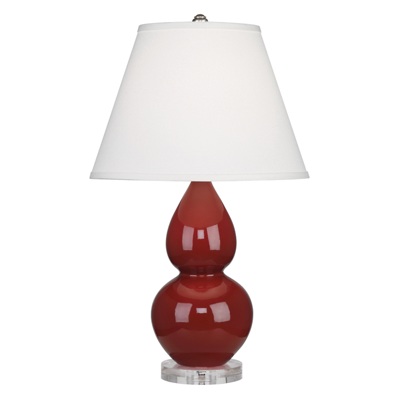 Small Double Gourd Lamp, Oxblood