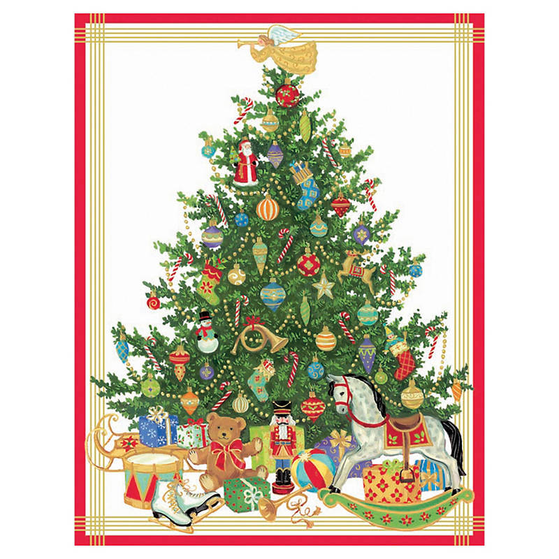 Caspari Tree With Toys Cards