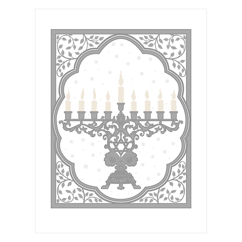 Caspari Menorah Cards, Set of 20
