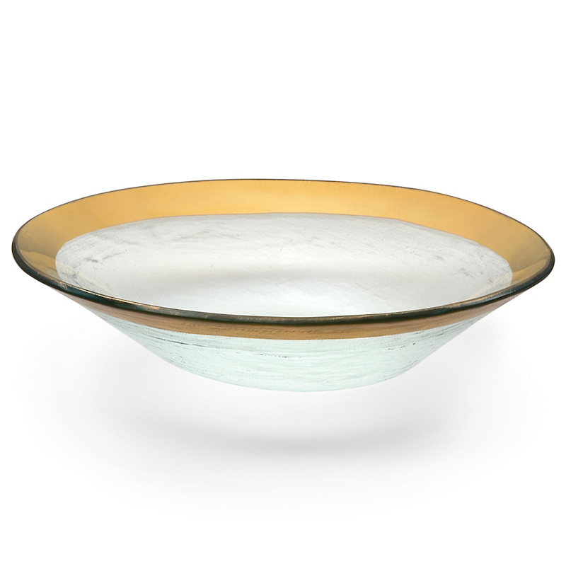 Annieglass Roman Antique Oval Bowl, Gold