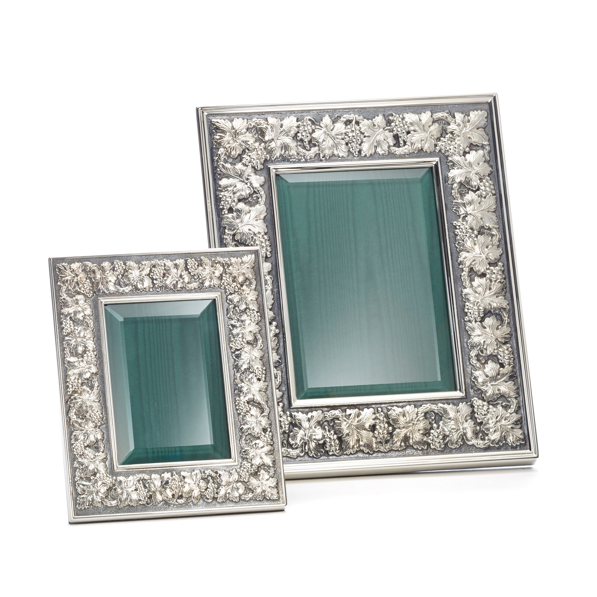 Buccellati Vine Leaf with Grape Sterling Silver Frames