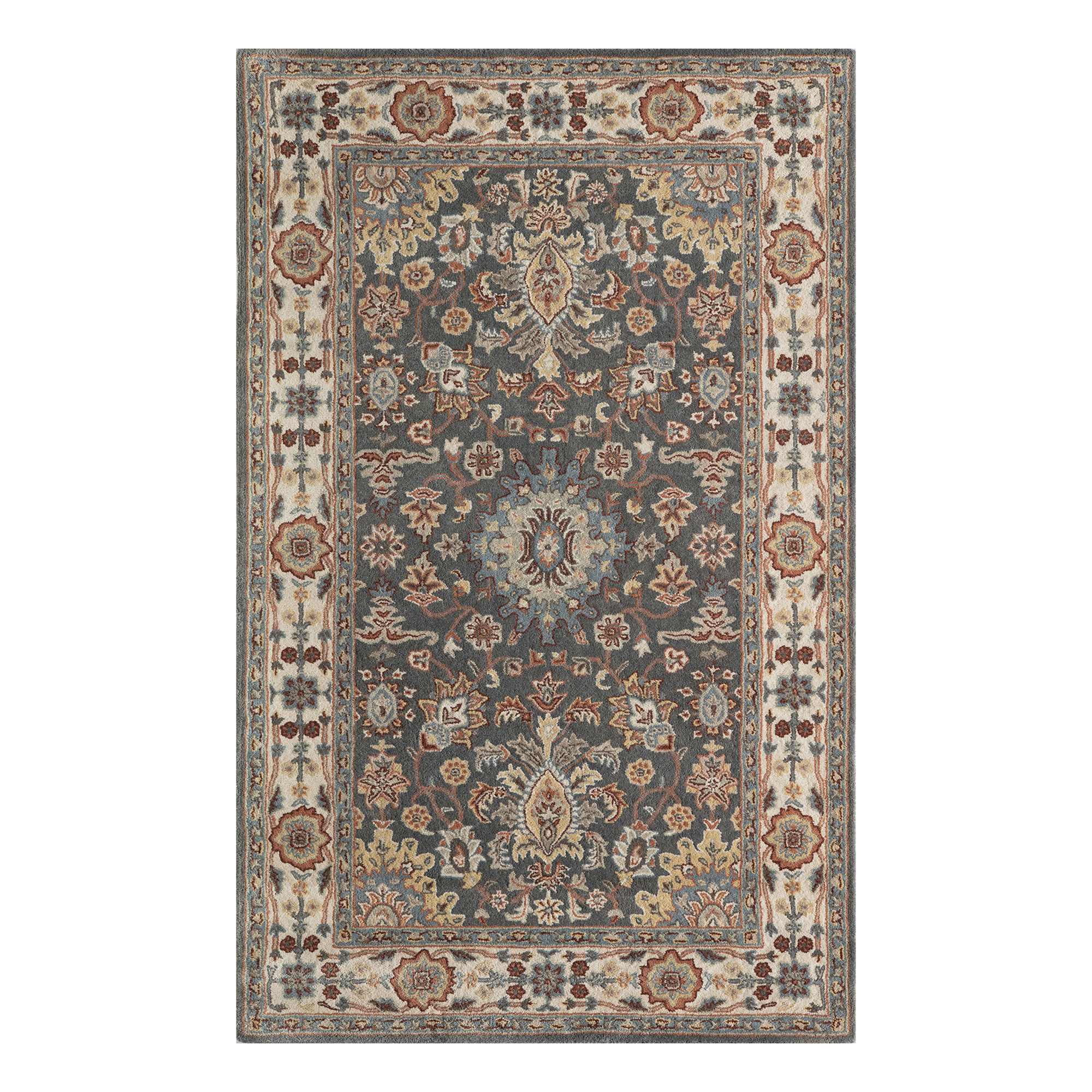 Majestic Wool Rug, Gray