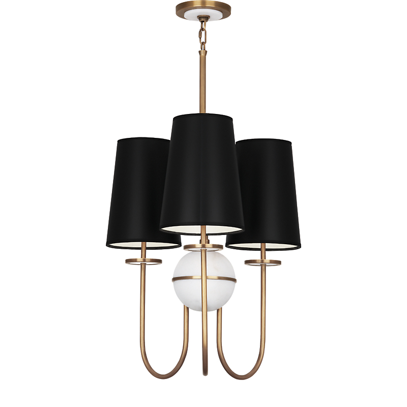 Robert Abbey Fineas 3-Light Chandelier, Black