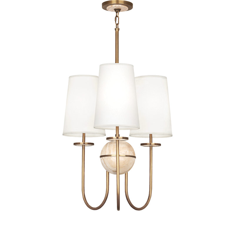 Robert Abbey Fineas 3-Light Chandelier, White