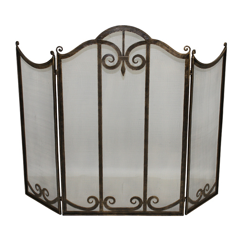 Classic Three-Panel Fireplace screen