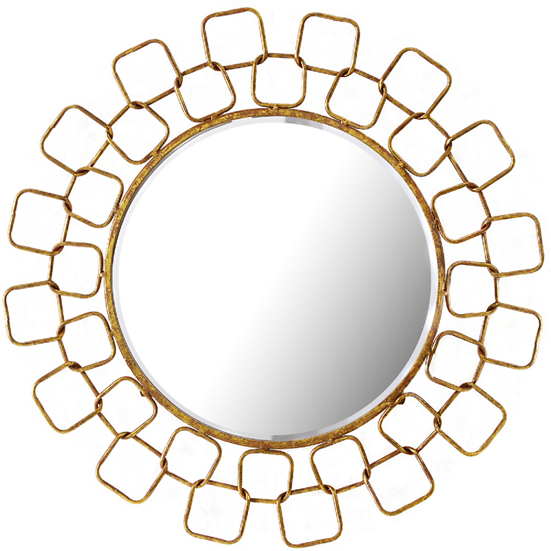 Metropolitan Wire Link Mirror Antique Gold Finish