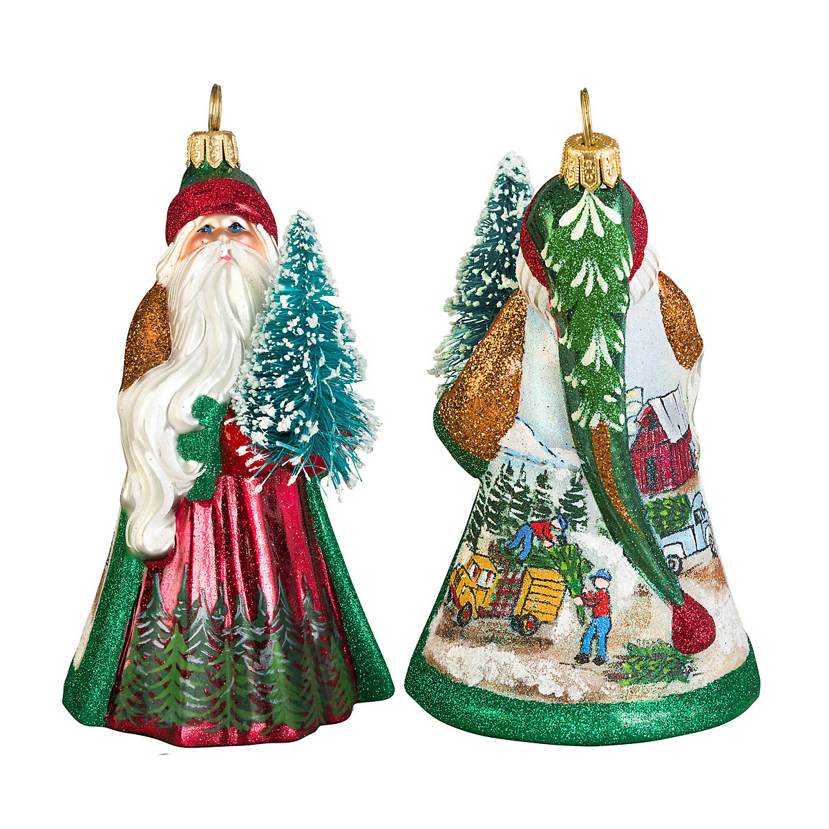 Christmas Tree Farms Victoria: Tree Farm Santa Christmas Ornament