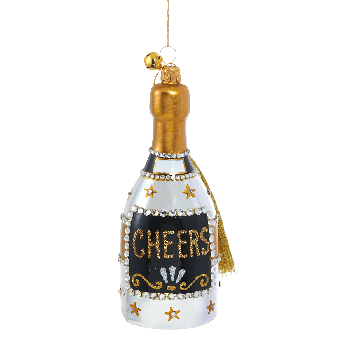 Jinglenog Cheers Bottle Christmas Ornament