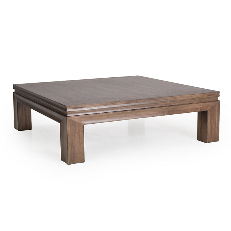 "Maria Yee Aptos 48"" Square Chestnut Cocktail Table"
