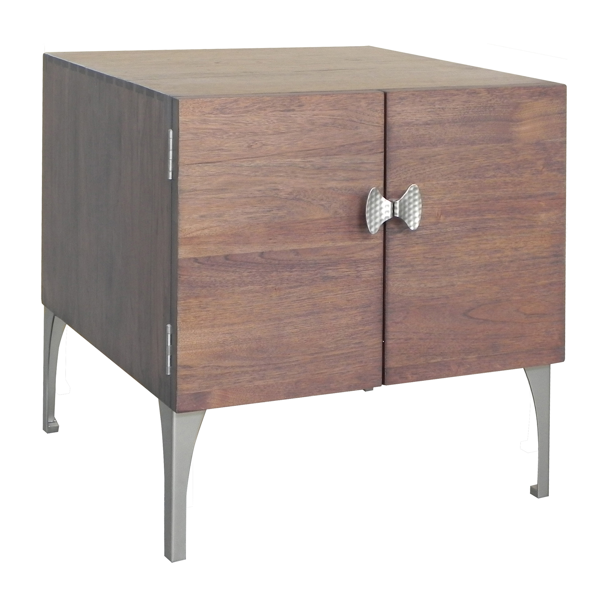 "Maria Yee Hattori 24"" End Table, Pumpernickel"