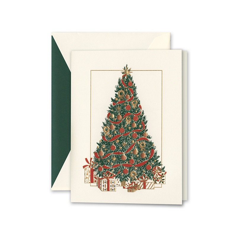 Crane & Co. Christmas Tree Cards, Set of 10