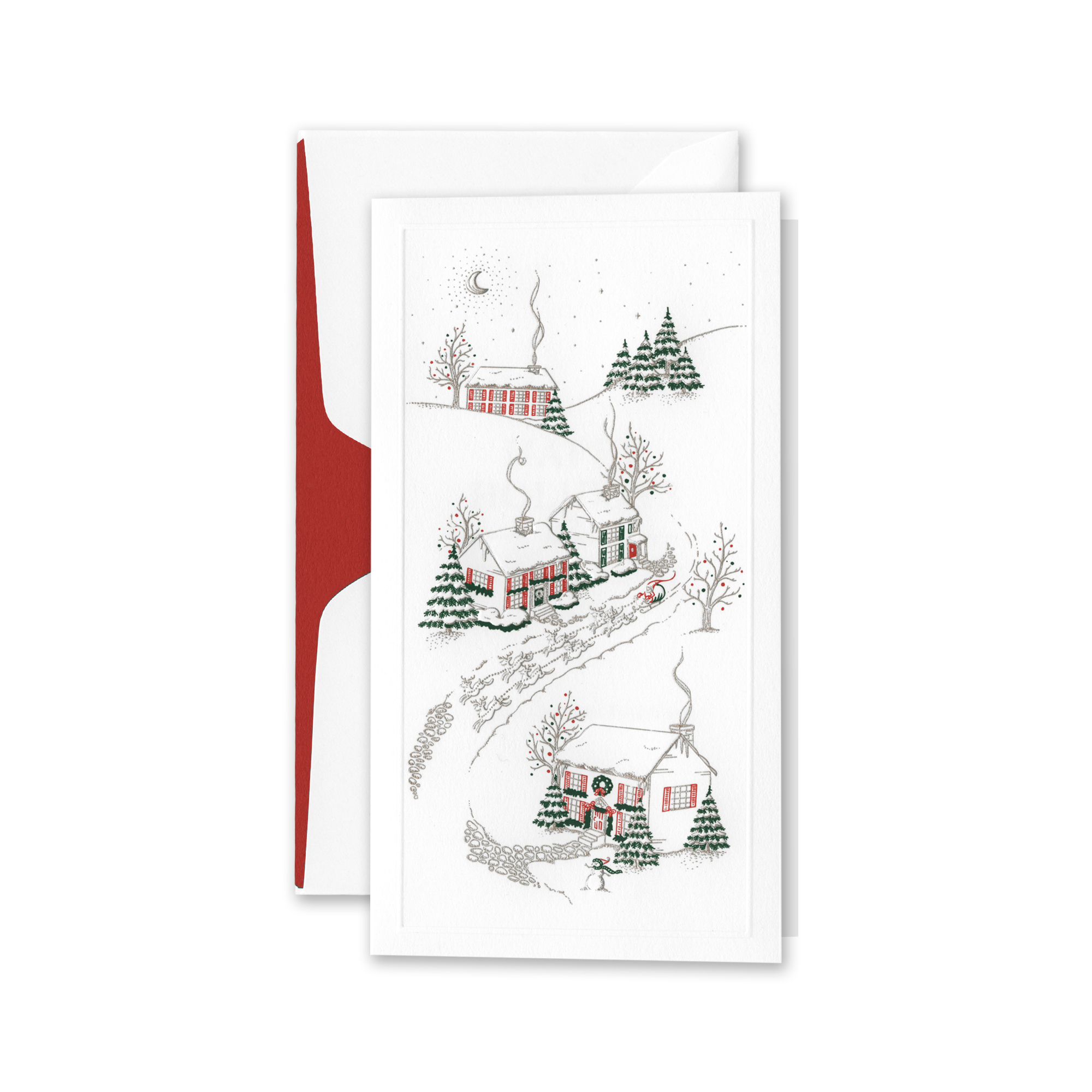 Crane & Co. Snowy Village Cards, Set of 10