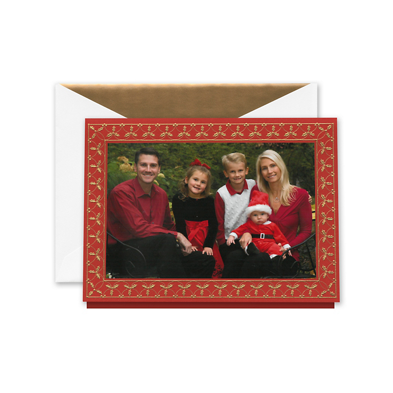 Crane & Co. Holly Holidays Red Photo Cards, Set of 10