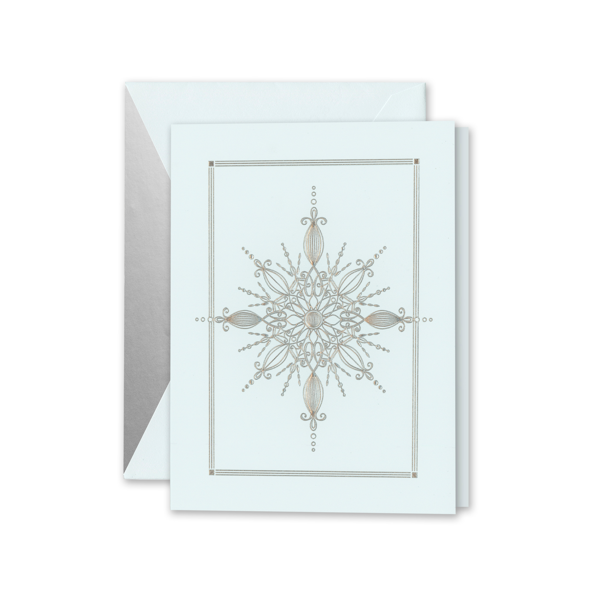 Crane & Co. Silver Snowflake Crystal Cards, Set of 10