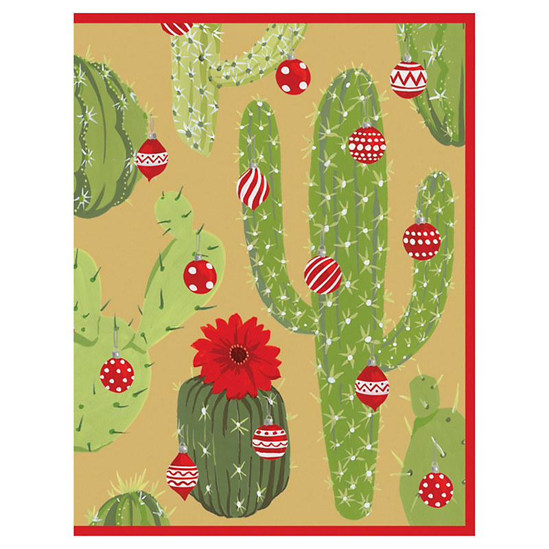 Caspari Merry Cactus Cards, Set of 16