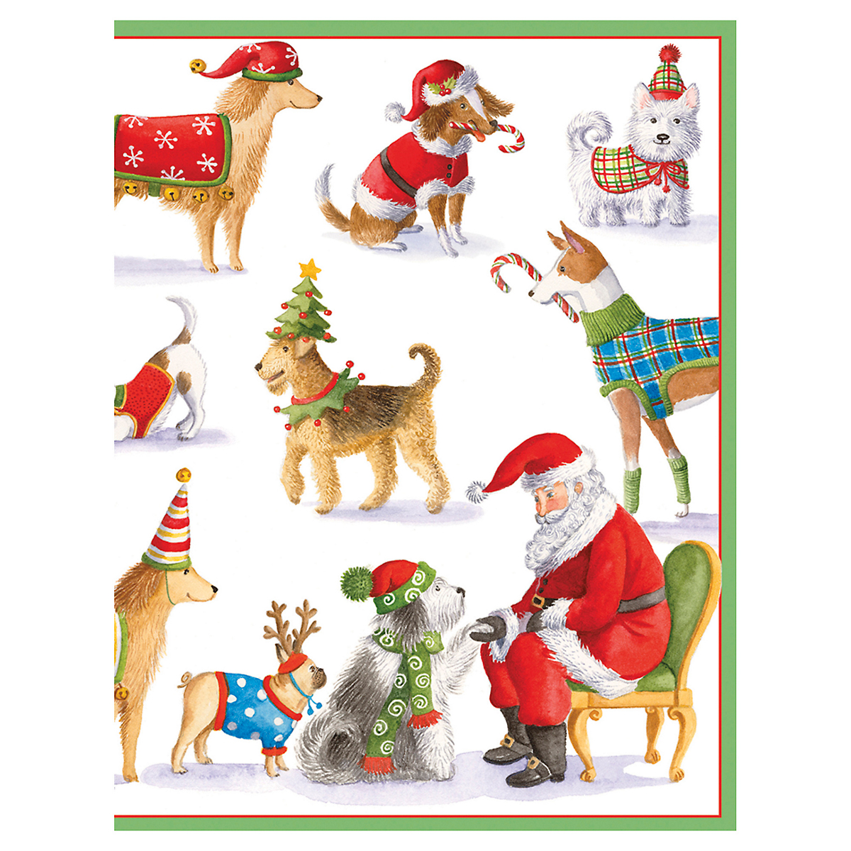 Caspari Waiting For Santa Cards, Set of 16
