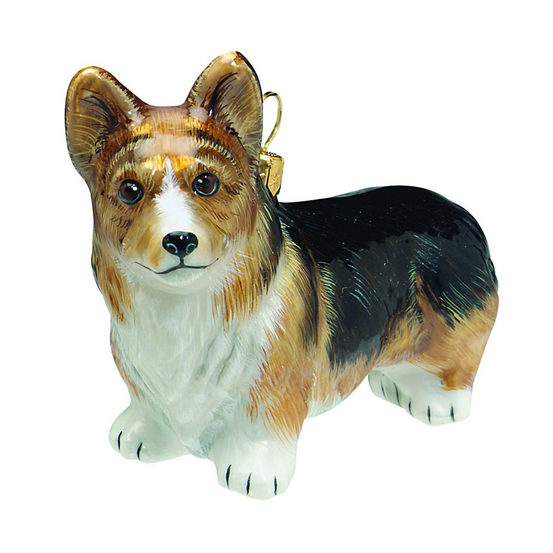 Pembroke Welsh Corgi Tri-color Christmas Ornament