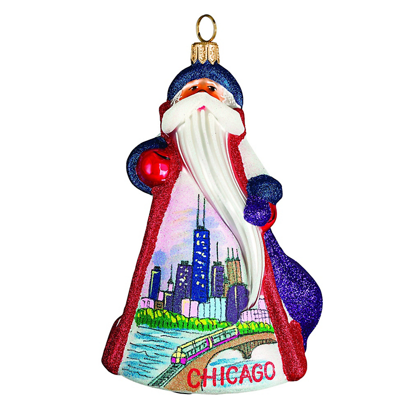 Chicago Santa Christmas Ornament