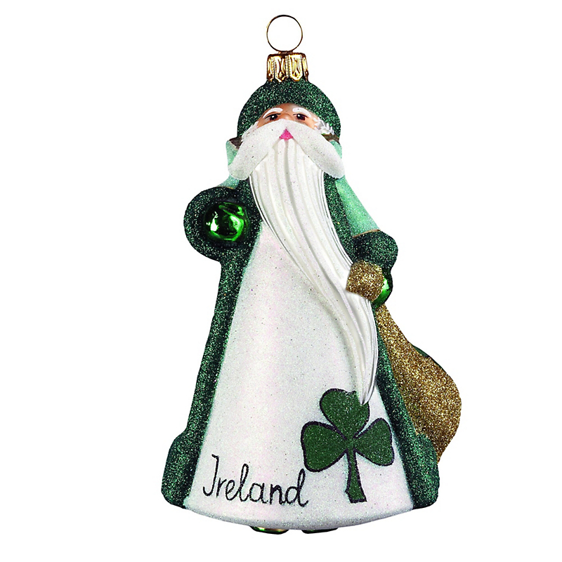 Ireland Santa Christmas Ornament