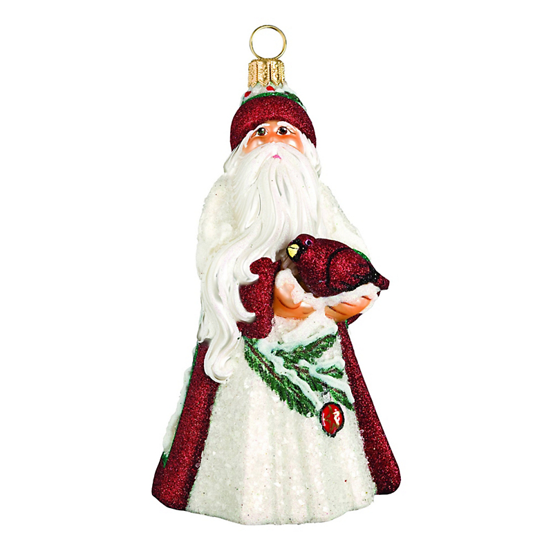 Cardinal Santa Christmas Ornament