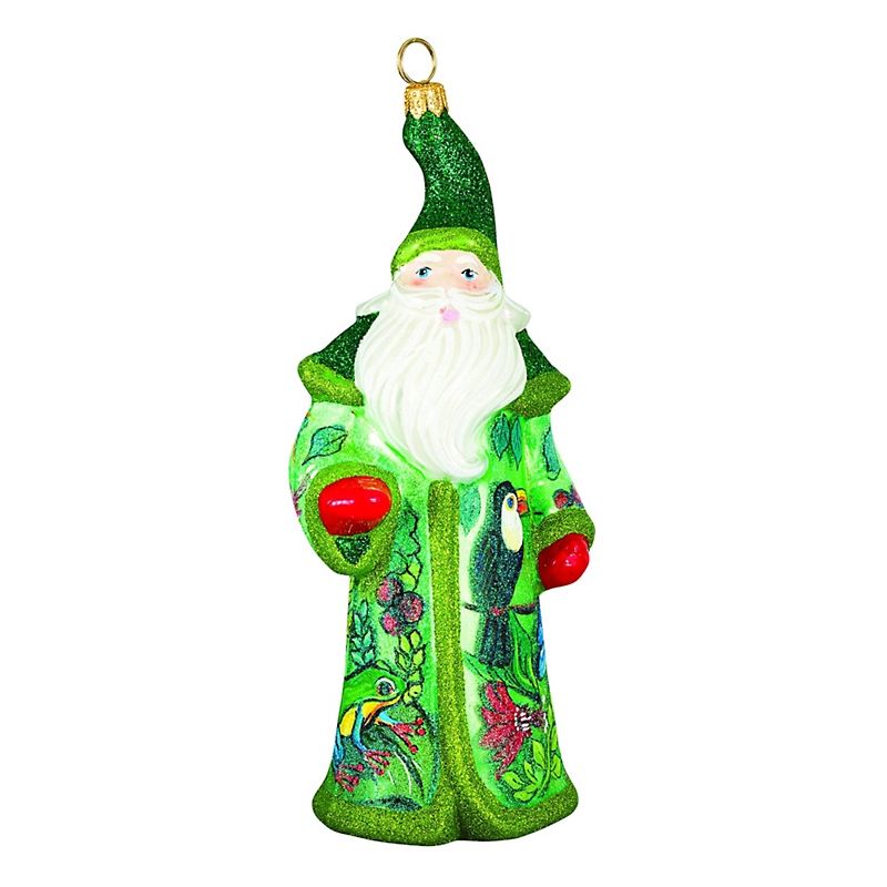 Rainforest Santa Christmas Ornament