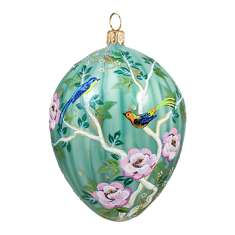 Chinoiserie Jeweled Egg Christmas Ornament