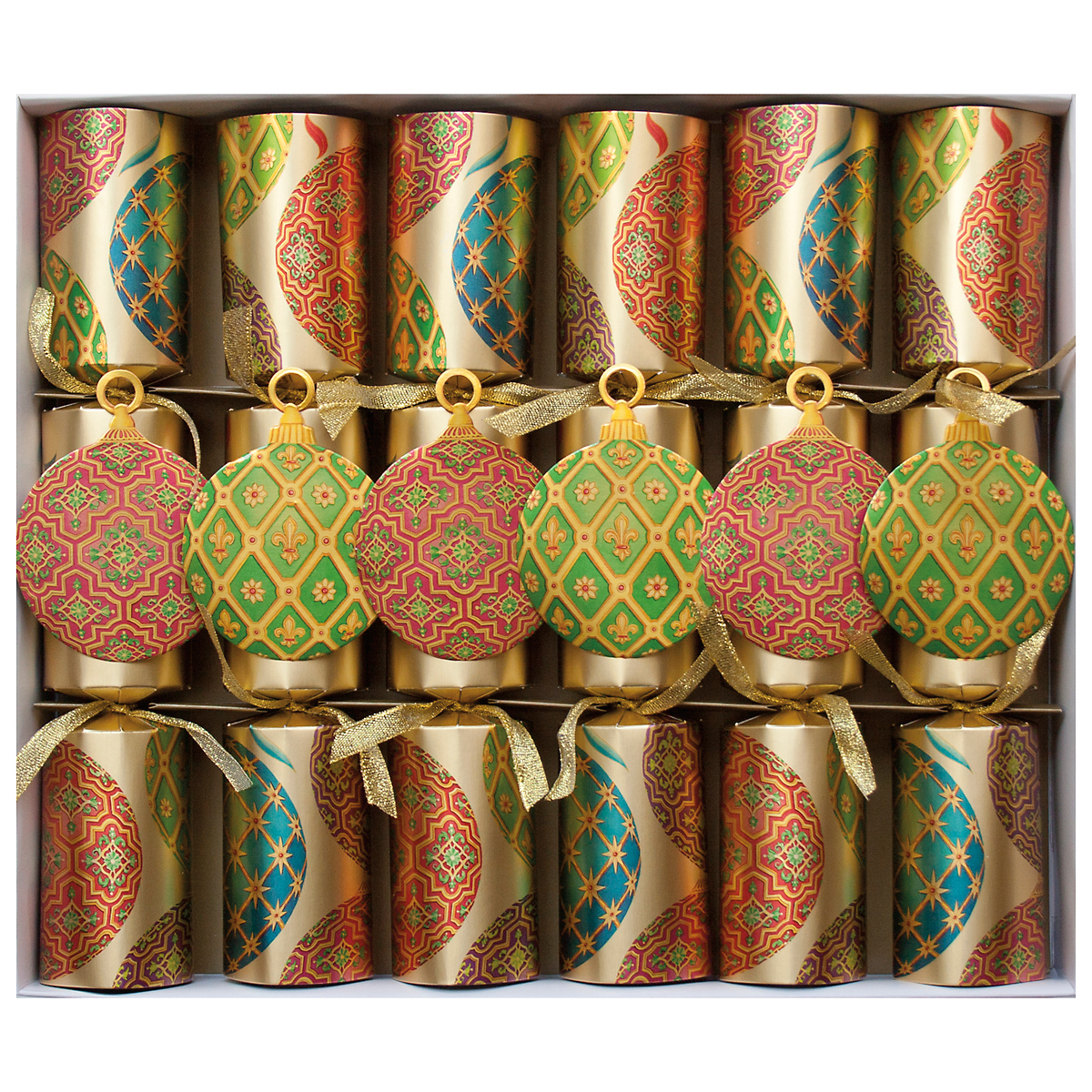 Imperial Ornaments Christmas Crackers, Set of 6