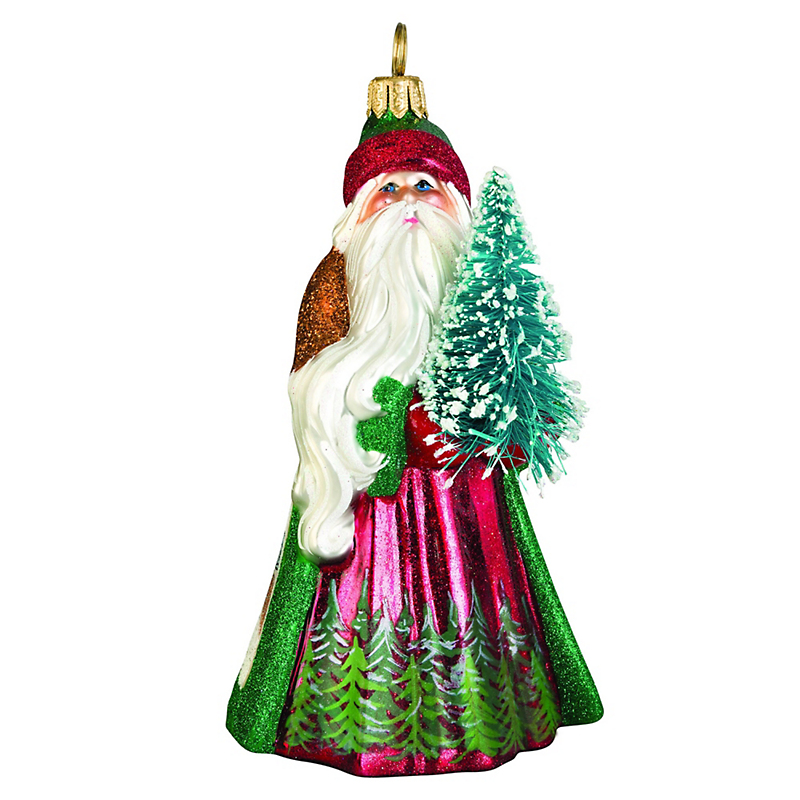 Christmas Tree Farm Santa Christmas Ornament