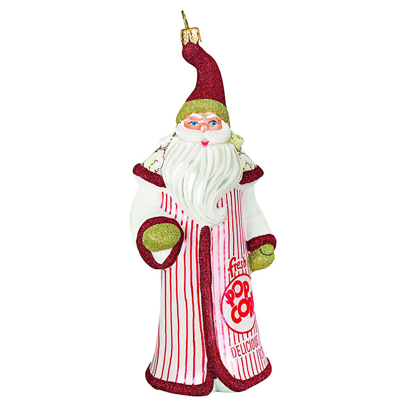Popcorn Santa Christmas Ornament