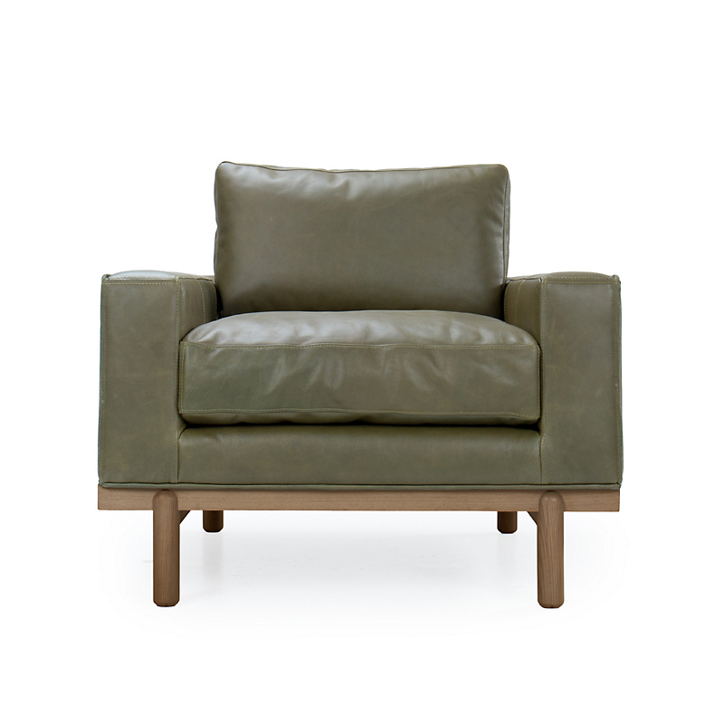 Maria Yee Cantor Chair, Fern Leather & Shiitake Finish