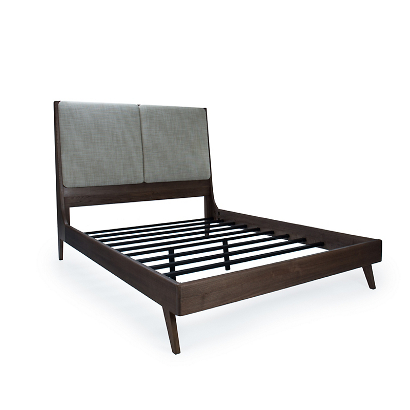 Maria Yee Navarro Queen Bed, Aspen Cobbleston & Shiitake Finish