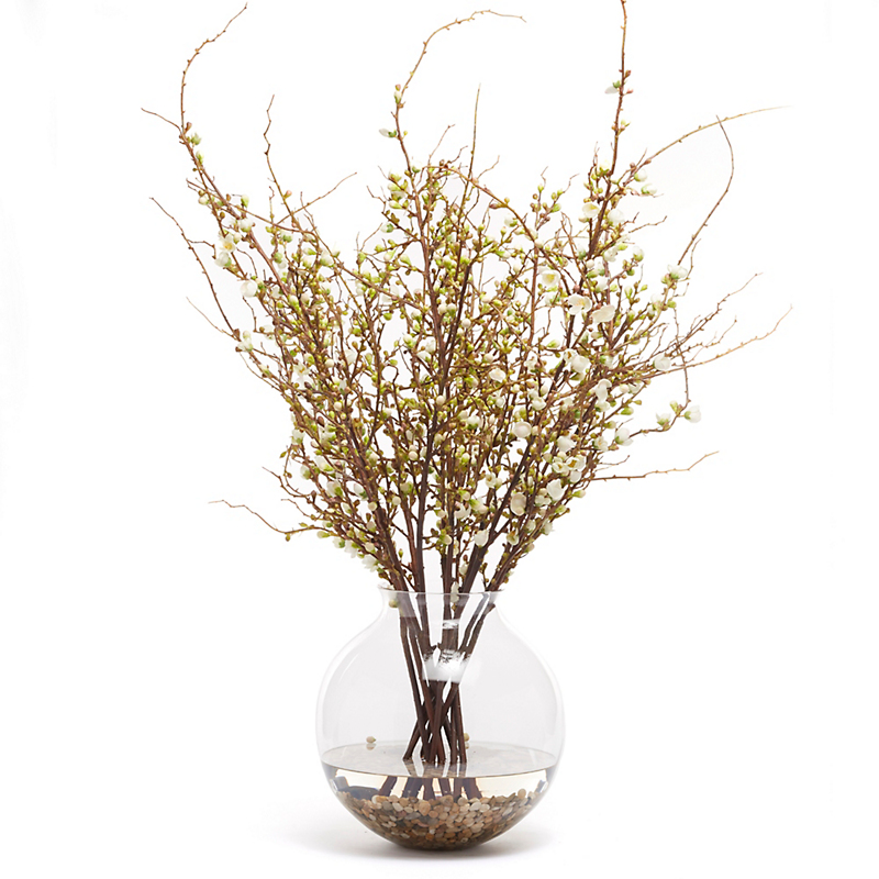 Grand Peach Blossom in Ball Vase