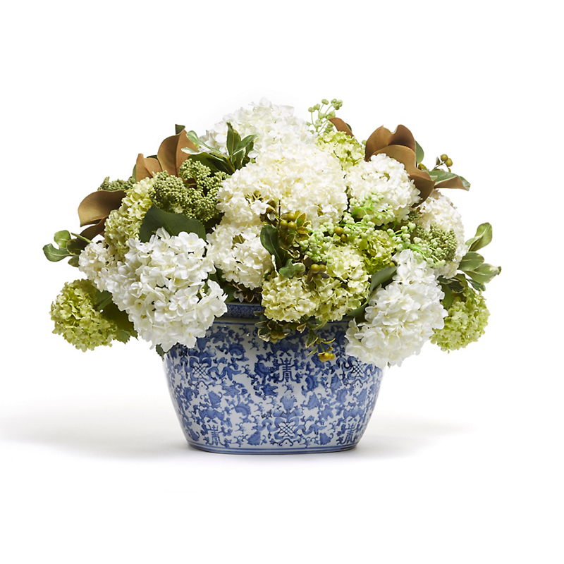 Grand Hydrangea in Oval Planter