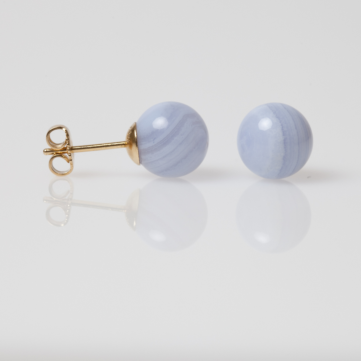 Gump's Blue Lace Agate Earrings