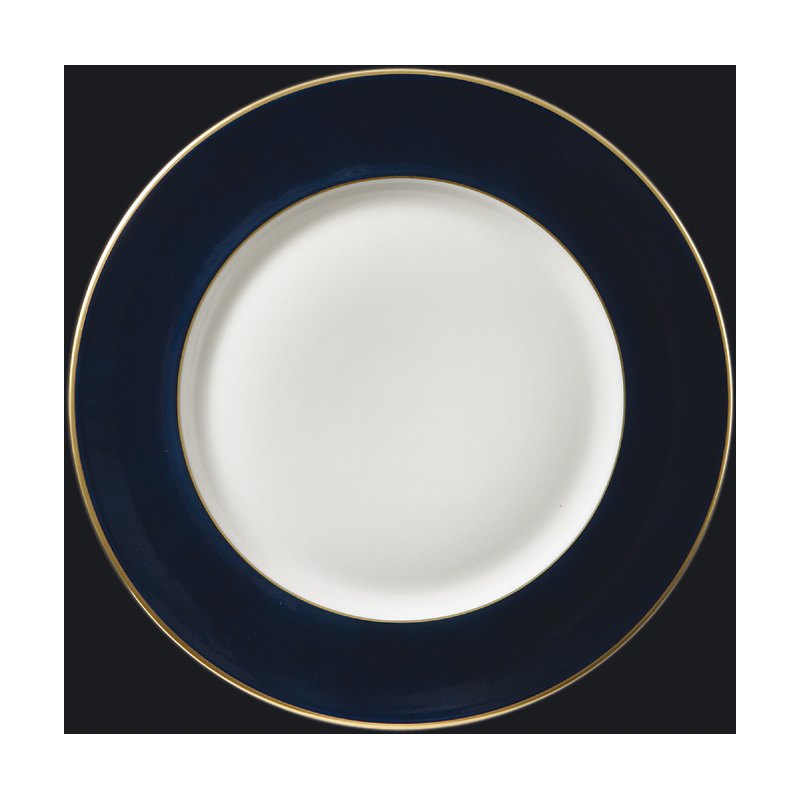 Richard-Ginori Charger with Gold Rim, Royal Blue