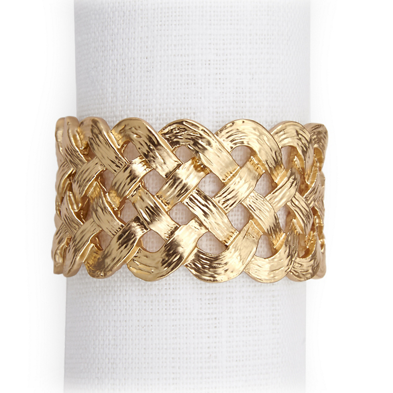 L'Objet Matte Braid Napkin Rings, Set of 4