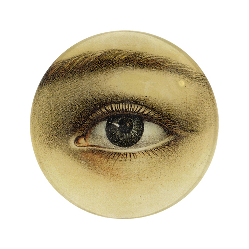 John Derian Left Eye Round Tray