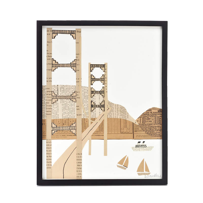 Paste Golden Gate Bridge Collage, 11 X 14