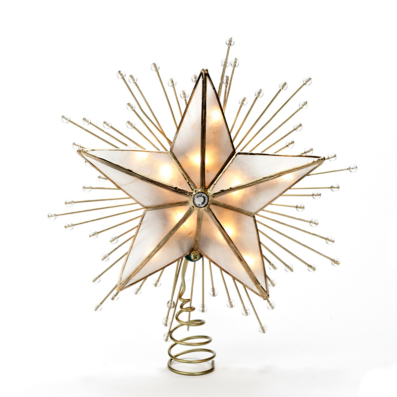 Five-Point Star Lighted Tree Topper