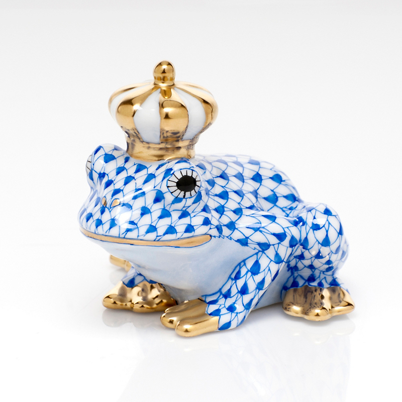 Herend Frog Prince, Sapphire
