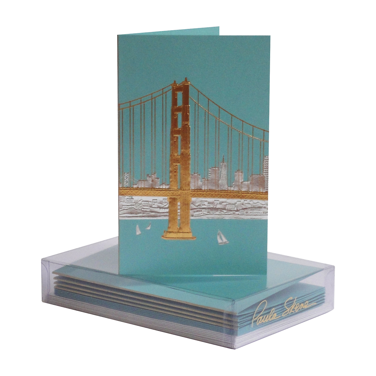Paula Skene San Francisco Skyline Note Cards, Set of 8