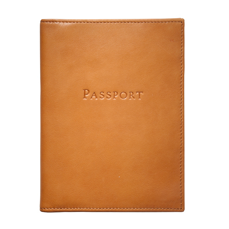 Classic Leather Passport Case, British Tan